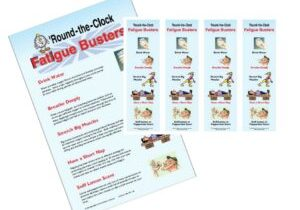Fatigue Buster Poster and Book Marks